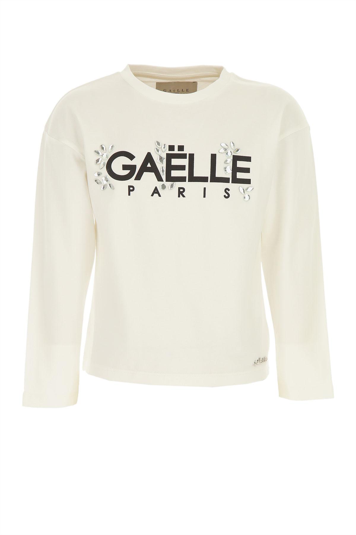 Gaelle Kids T-Shirt for Girls On Sale, White, Cotton, 2019, 14Y 16Y 6Y 8Y