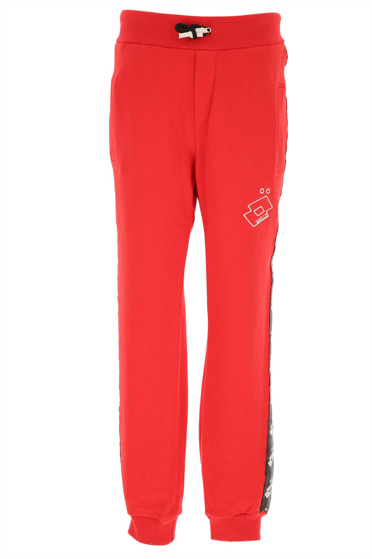 Gaelle Kids Sweatpants for Girls On Sale, Red, Cotton, 2019, 12Y 14Y 16Y 4Y 6Y