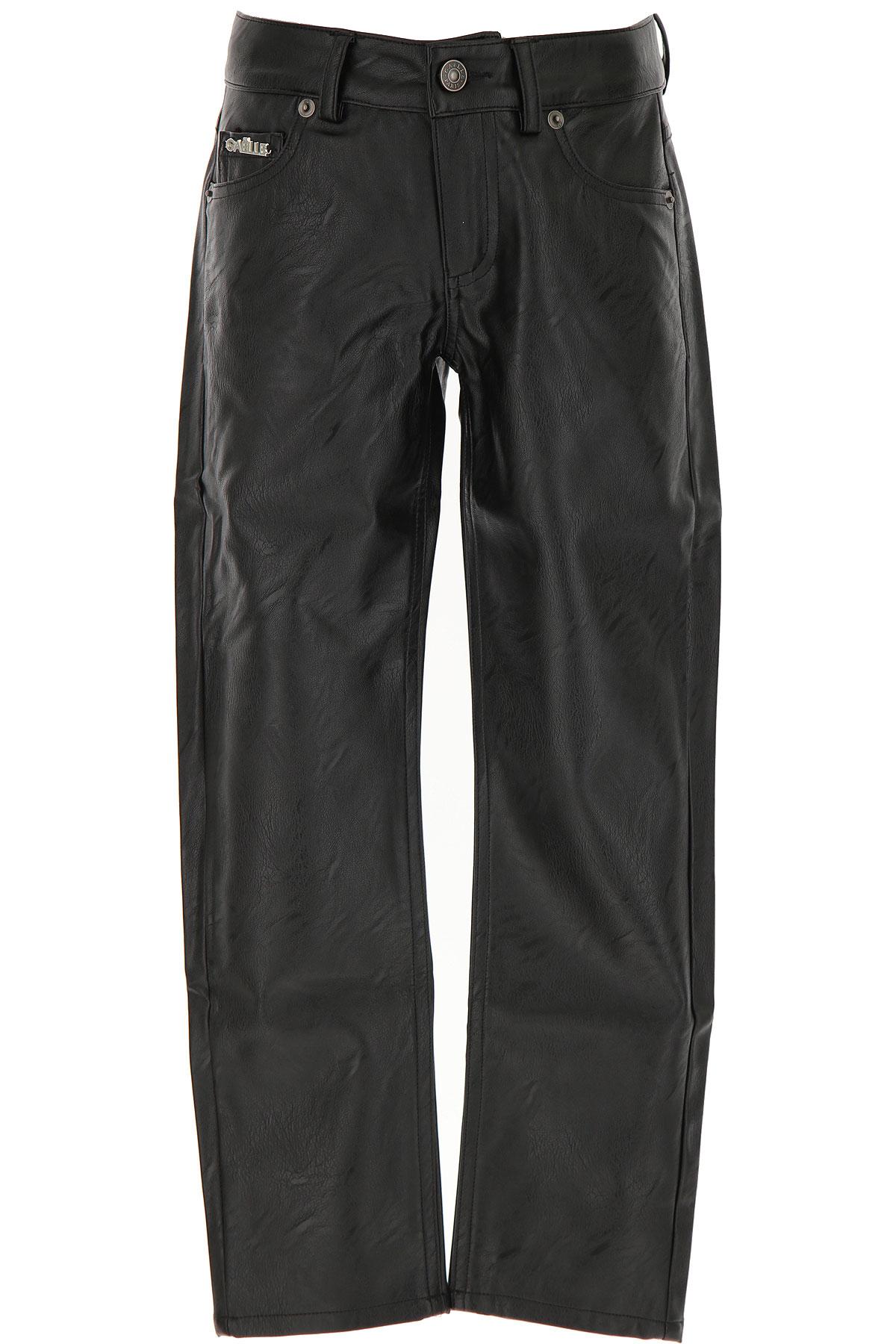 Gaelle Kids Pants for Girls On Sale, Black, polyurethane, 2019, 10Y 12Y 8Y