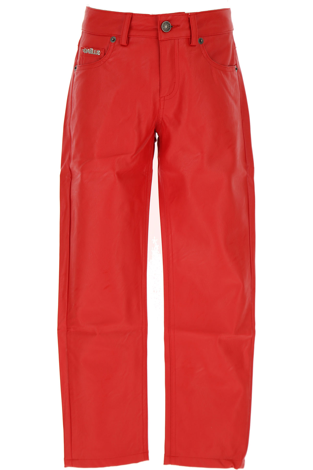 Gaelle Kids Pants for Girls On Sale, Red, polyurethane, 2019, 10Y 12Y 14Y 8Y