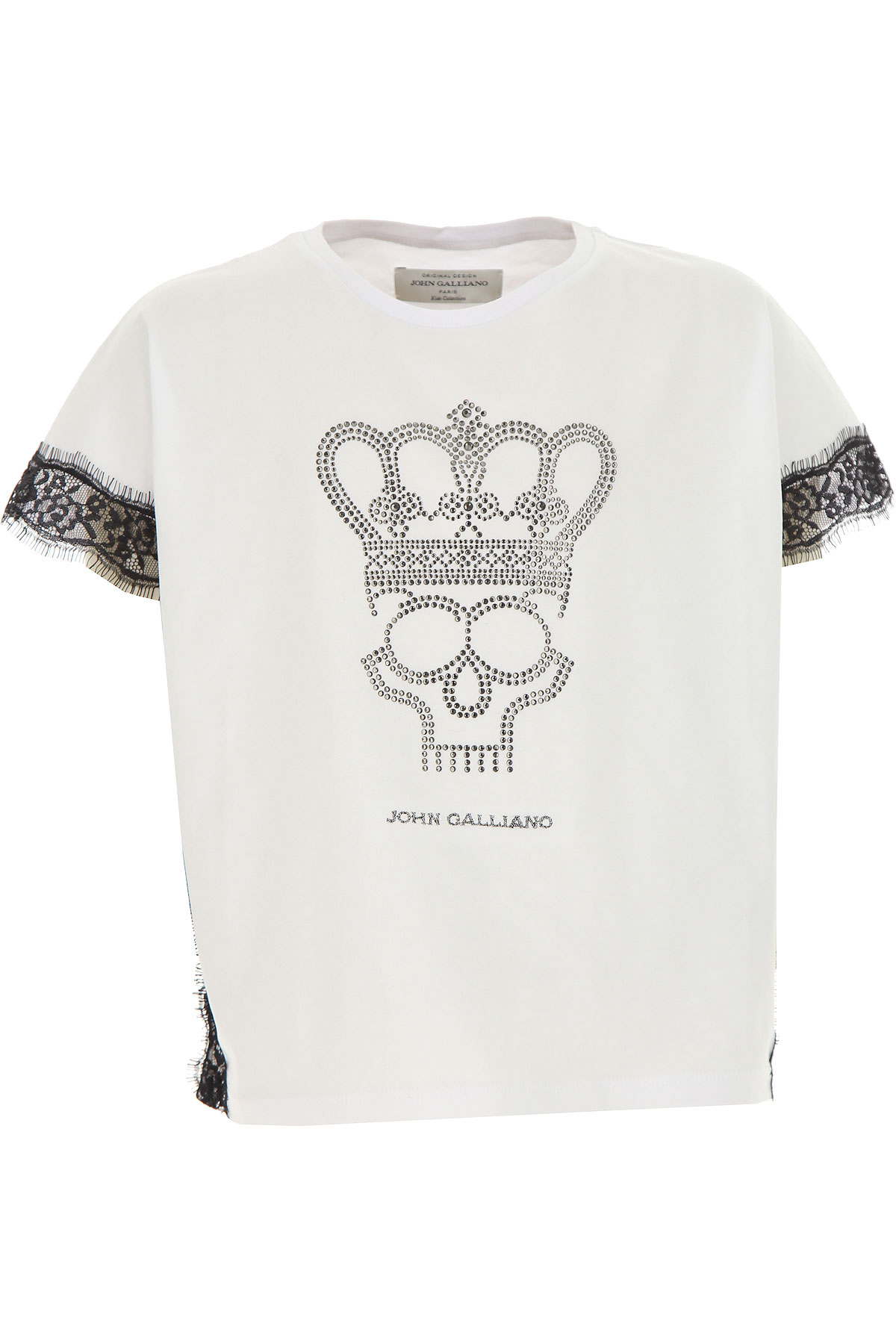 Galliano Kids T-Shirt for Girls On Sale, White, Cotton, 2019, 14Y 6Y 8Y