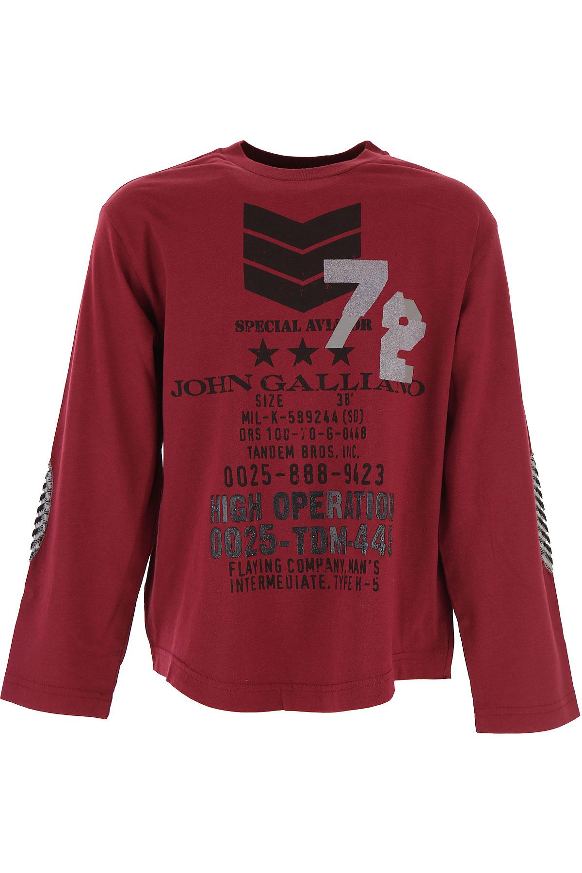 Galliano T-Shirt Enfant pour Garçon, Bordeaux, Coton, 2017, 10Y 12Y 14Y 16Y 4Y 6Y 8Y