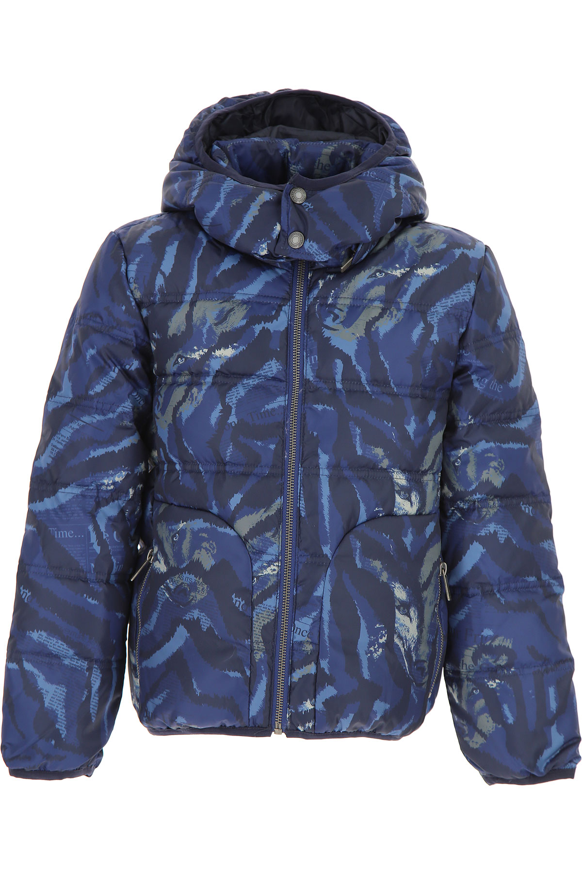 Image of Galliano Boys Down Jacket for Kids, Puffer Ski Jacket, Blue, polyester, 2017, 10Y 14Y 16Y 4Y 6Y 8Y
