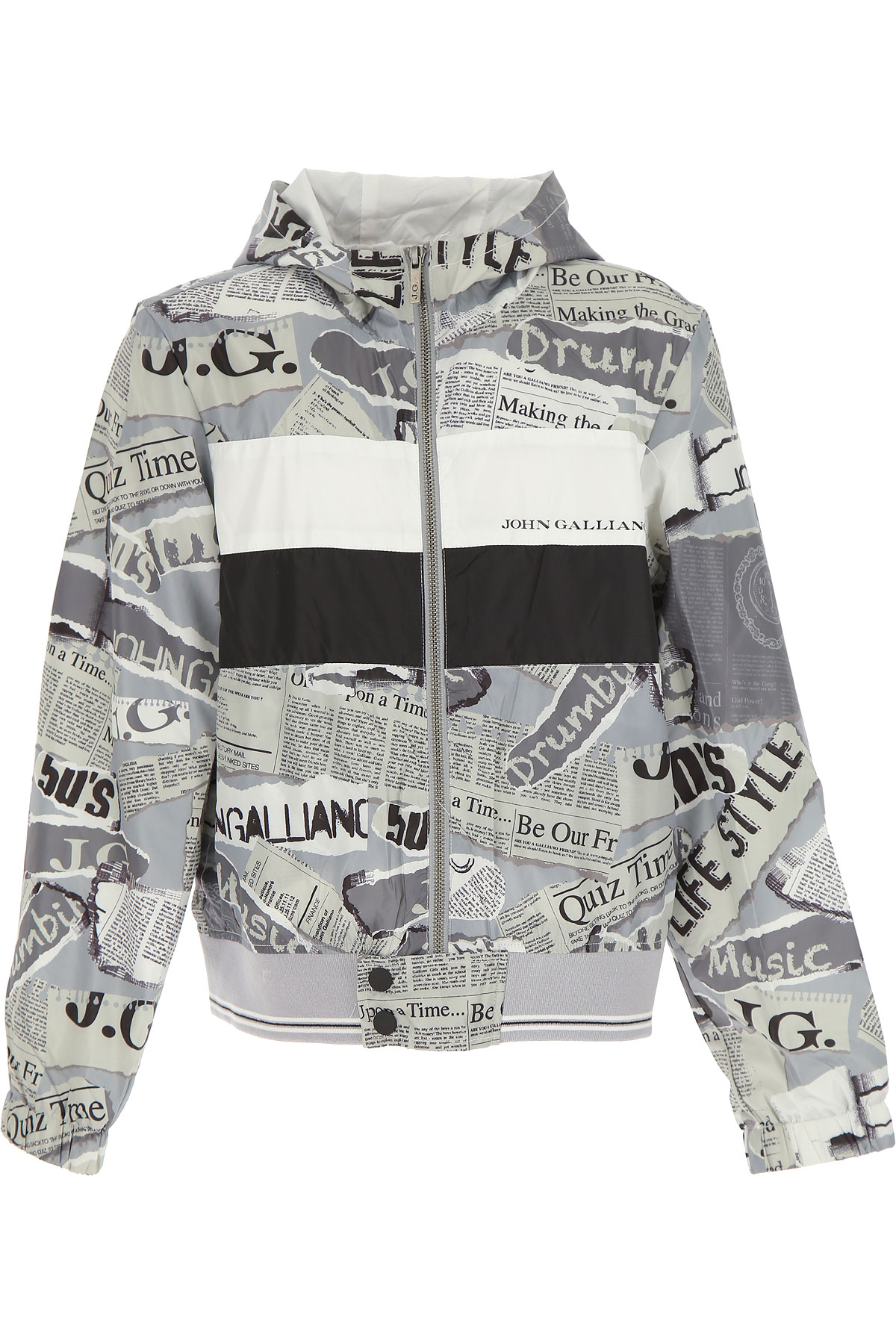 Galliano Kids Jacket for Boys On Sale, Grey, polyester, 2019, 10Y 6Y 8Y