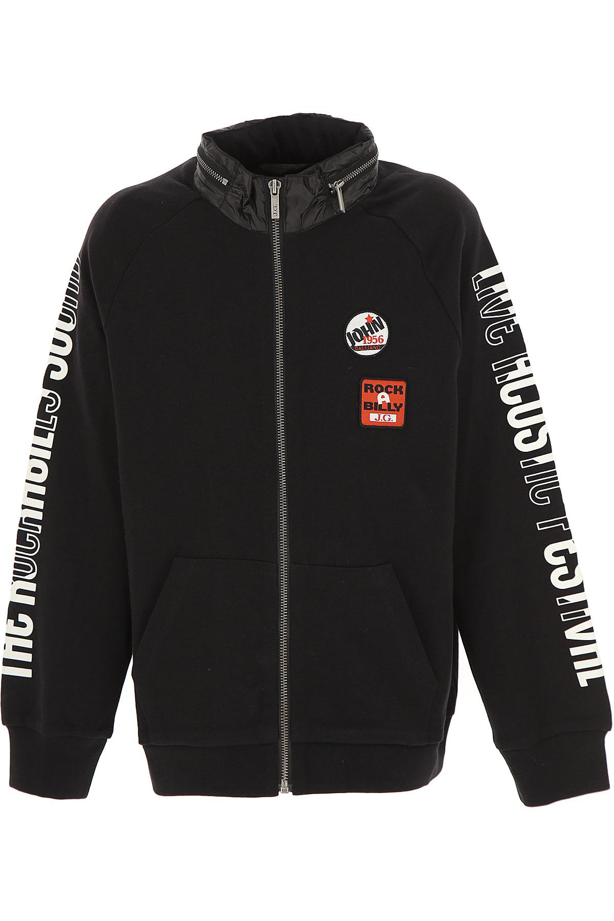 Galliano Kids Sweatshirts & Hoodies for Boys On Sale, Black, Cotton, 2019, 10Y 12Y 14Y 16Y 4Y 6Y 8Y