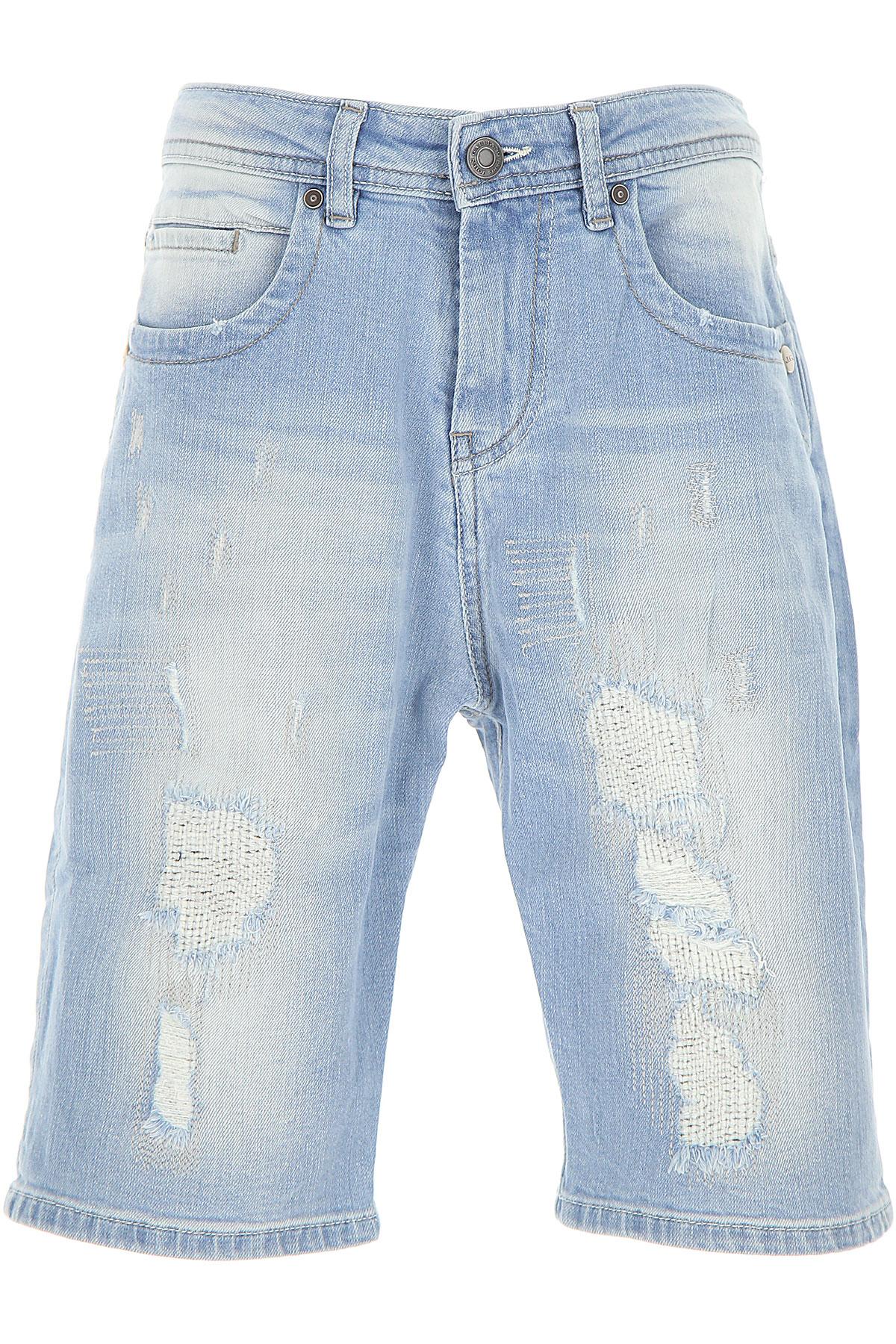 Galliano Kids Shorts for Boys On Sale, Denim Light Blue, Cotton, 2019, 14Y 4Y 6Y 8Y