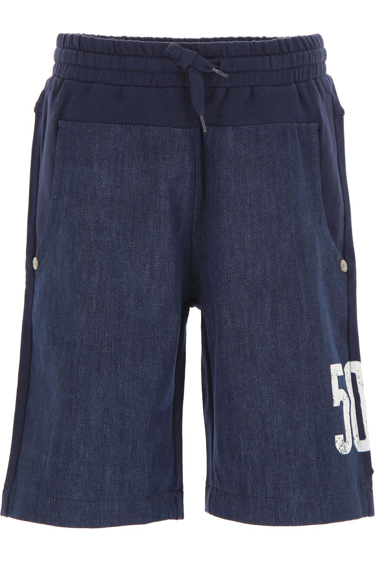 Galliano Kids Shorts for Boys On Sale, navy, Cotton, 2019, 10Y 16Y 4Y 6Y 8Y