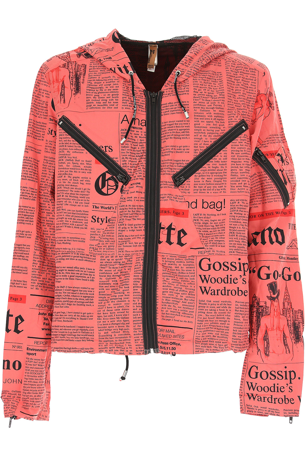 Image of Galliano Jacket for Men, Red, polyester, 2017, L XL