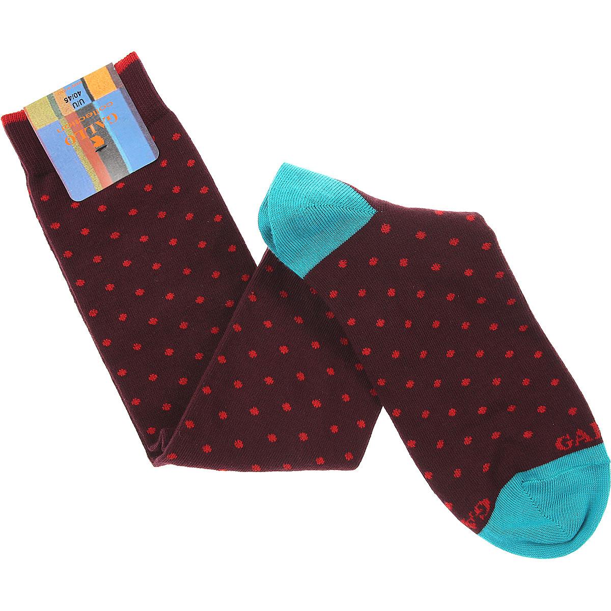 Gallo Socks Socks for Men On Sale, Bordeaux, Cotton, 2019