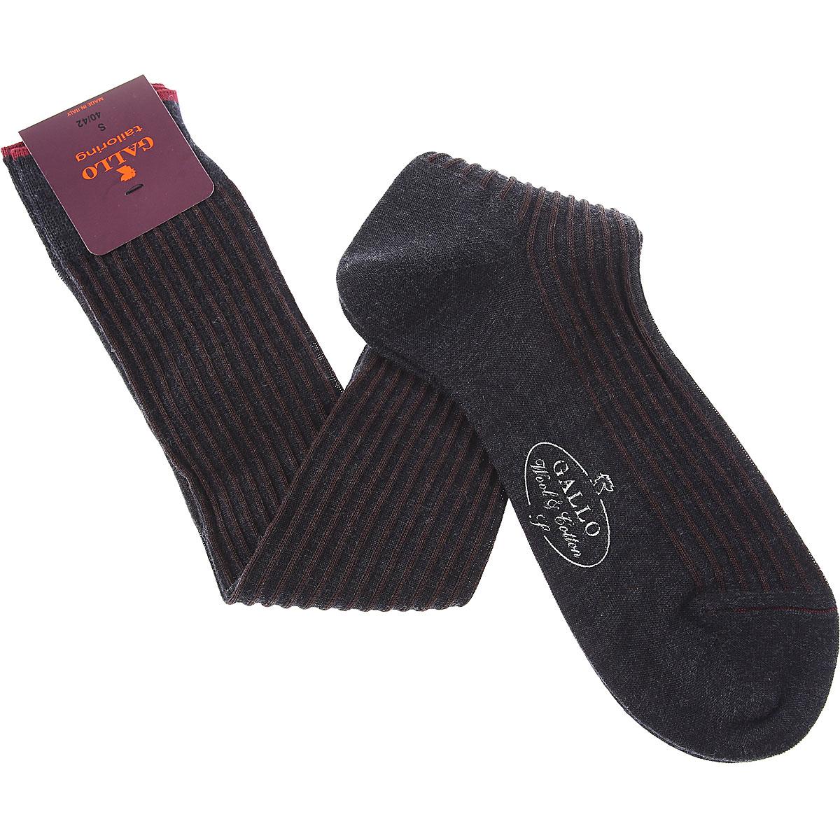 Gallo Socks Mens Underwear, Brown, Wool, 2019, S L