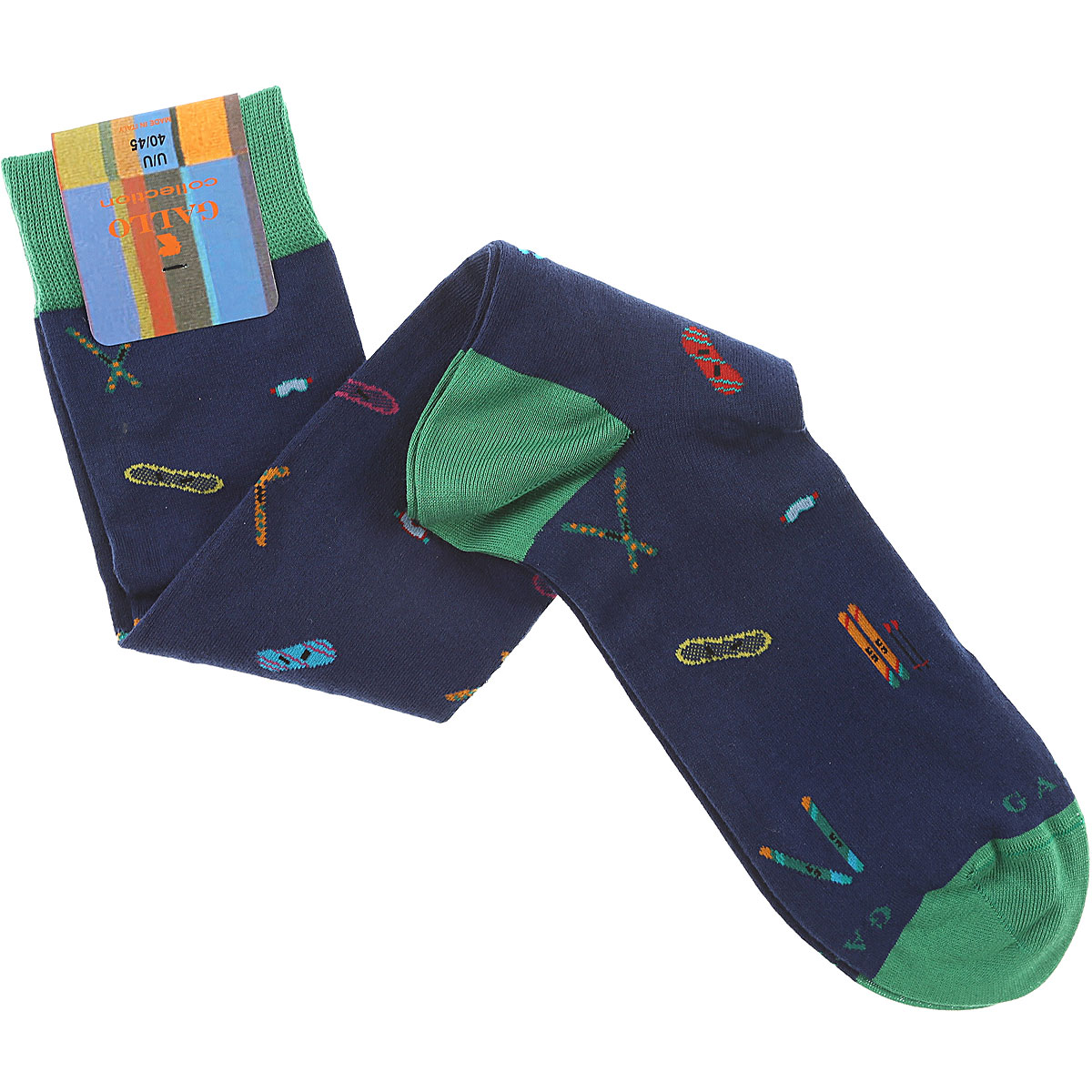 Image of Gallo Socks Mens Underwear, Blue, Cotton, 2017