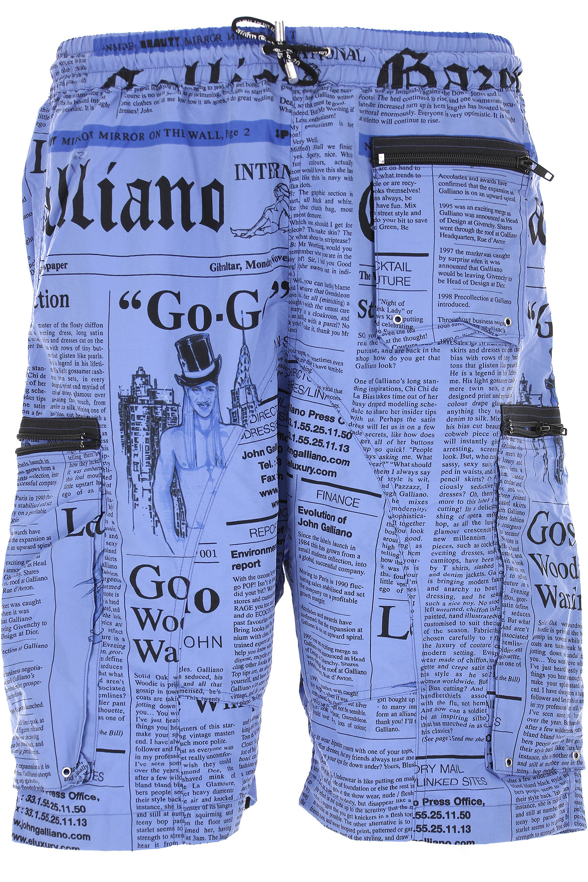 Image of Galliano Mens Swimwear On Sale in Outlet, Bluette, polyester, 2017, S (EU 46) M (EU 48) XL (EU 52)