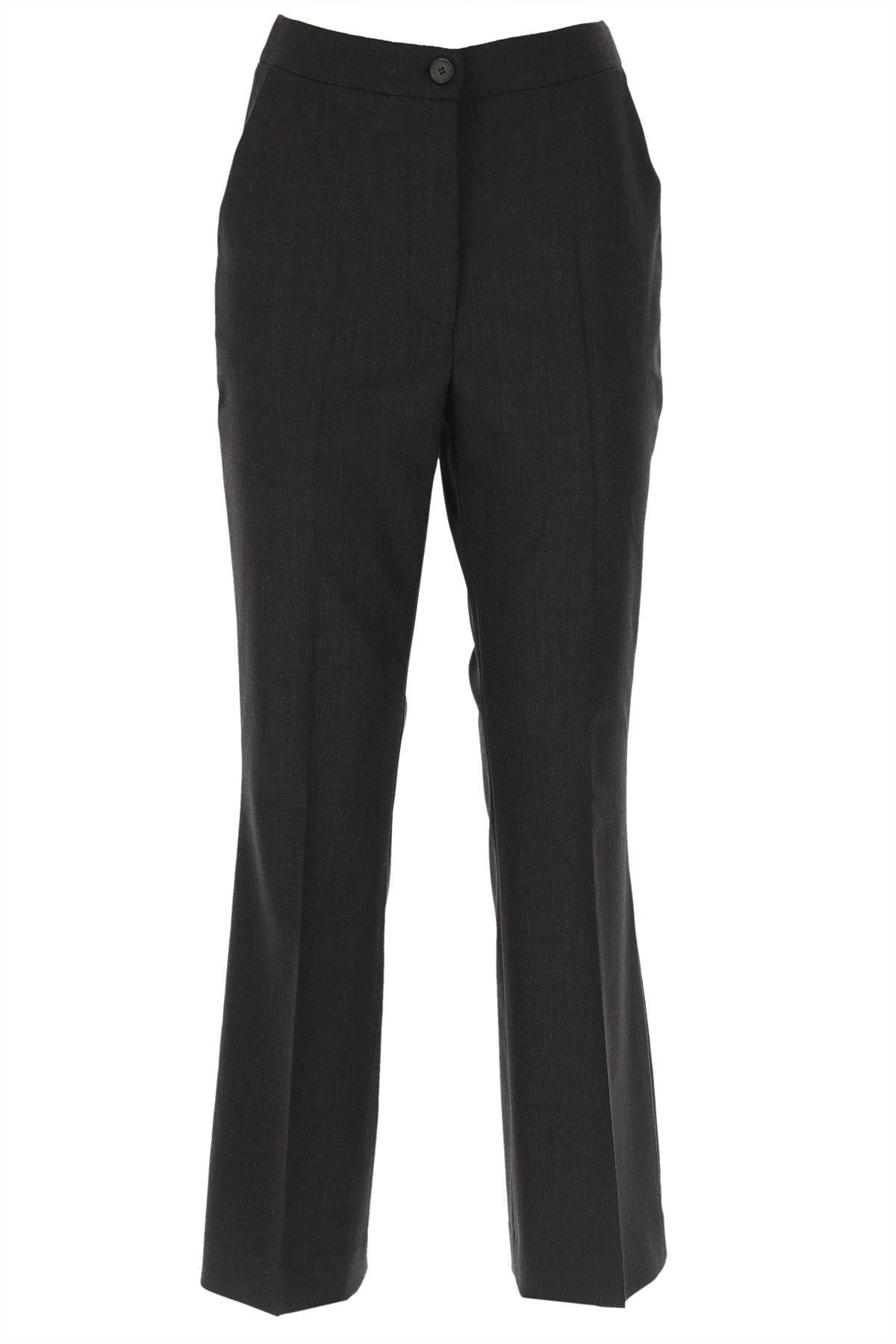 Giada Benincasa Pants for Women On Sale, Anthracite Grey, Virgin wool, 2019, 26