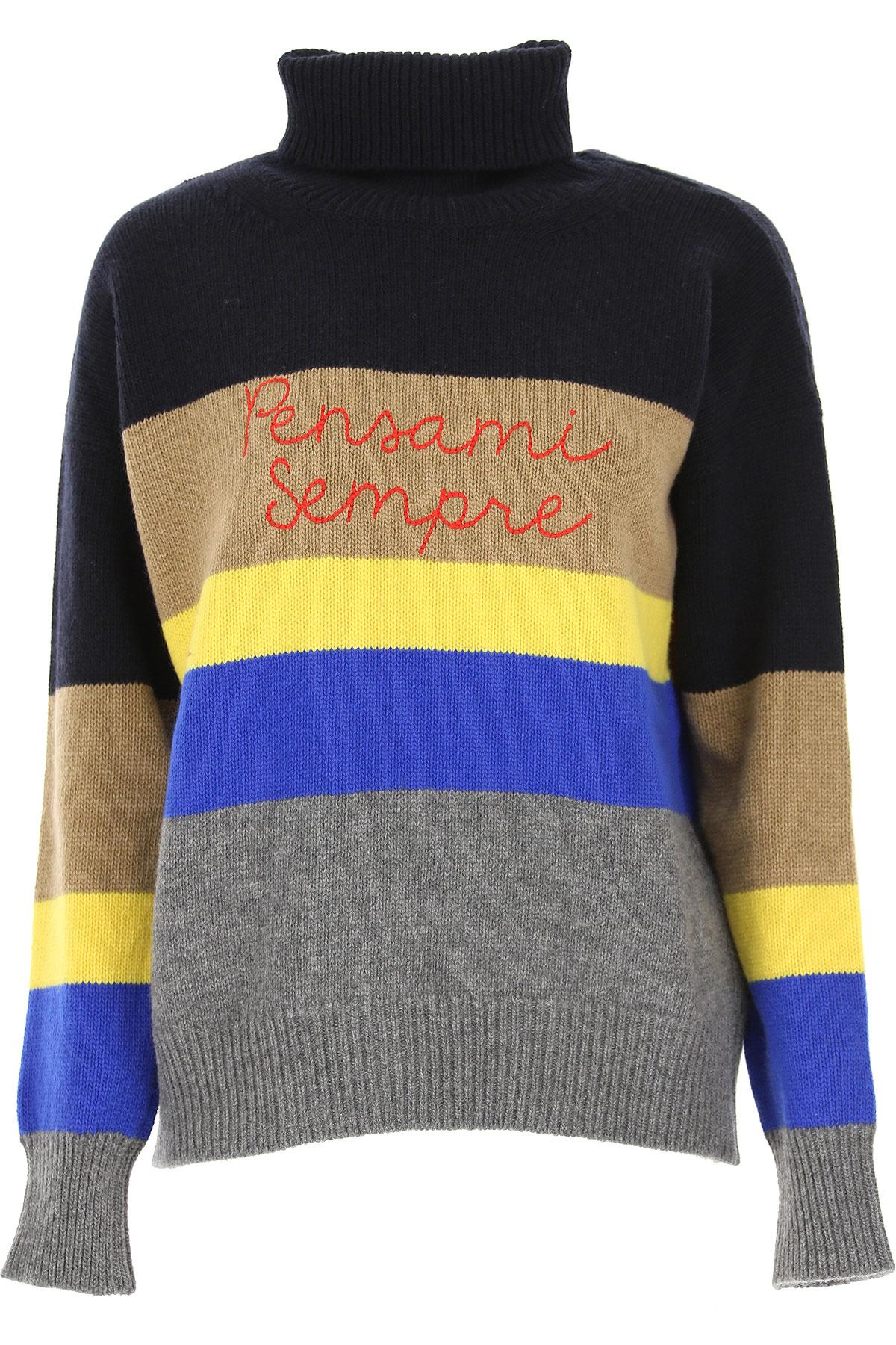 Giada Benincasa Sweater for Women Jumper On Sale, Navy Blue, Wool, 2019, 2 6