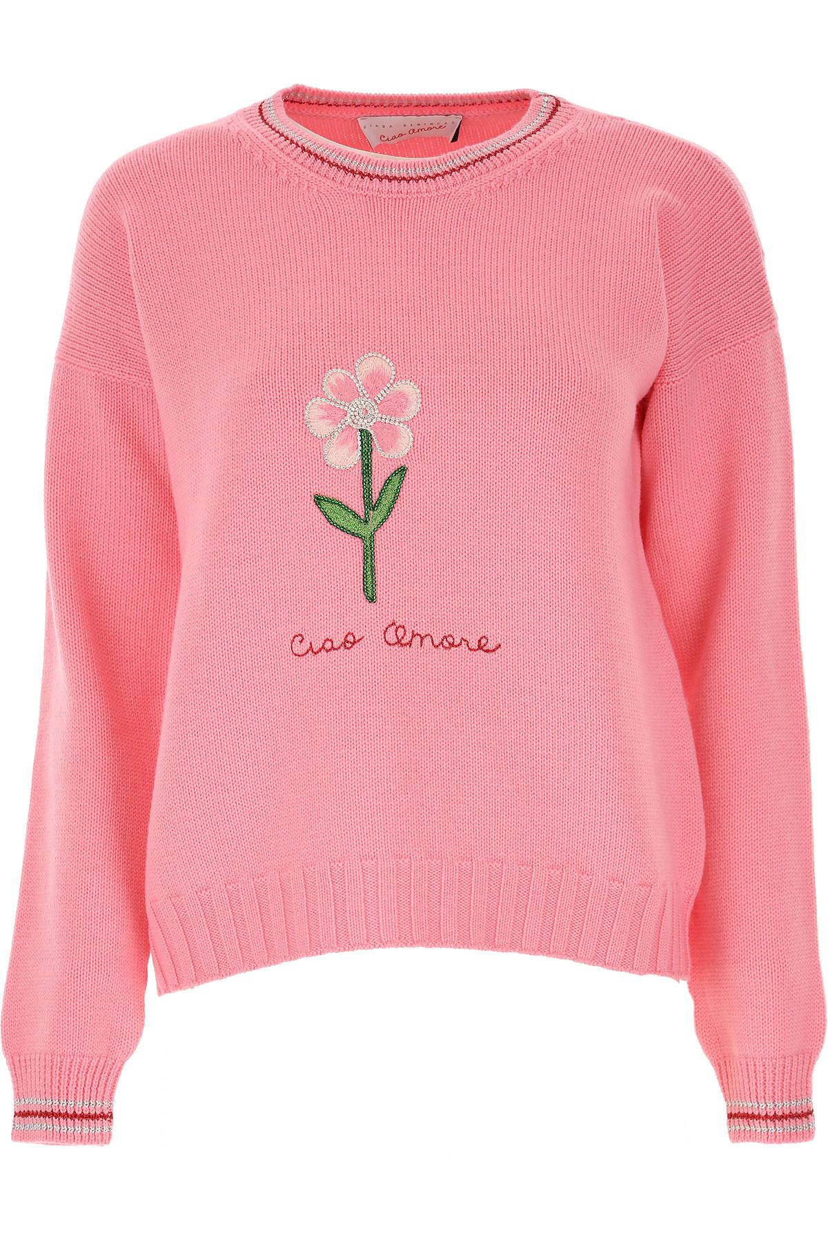 Giada Benincasa Pull Femme, Rose, Laine, 2019, 40 44 M