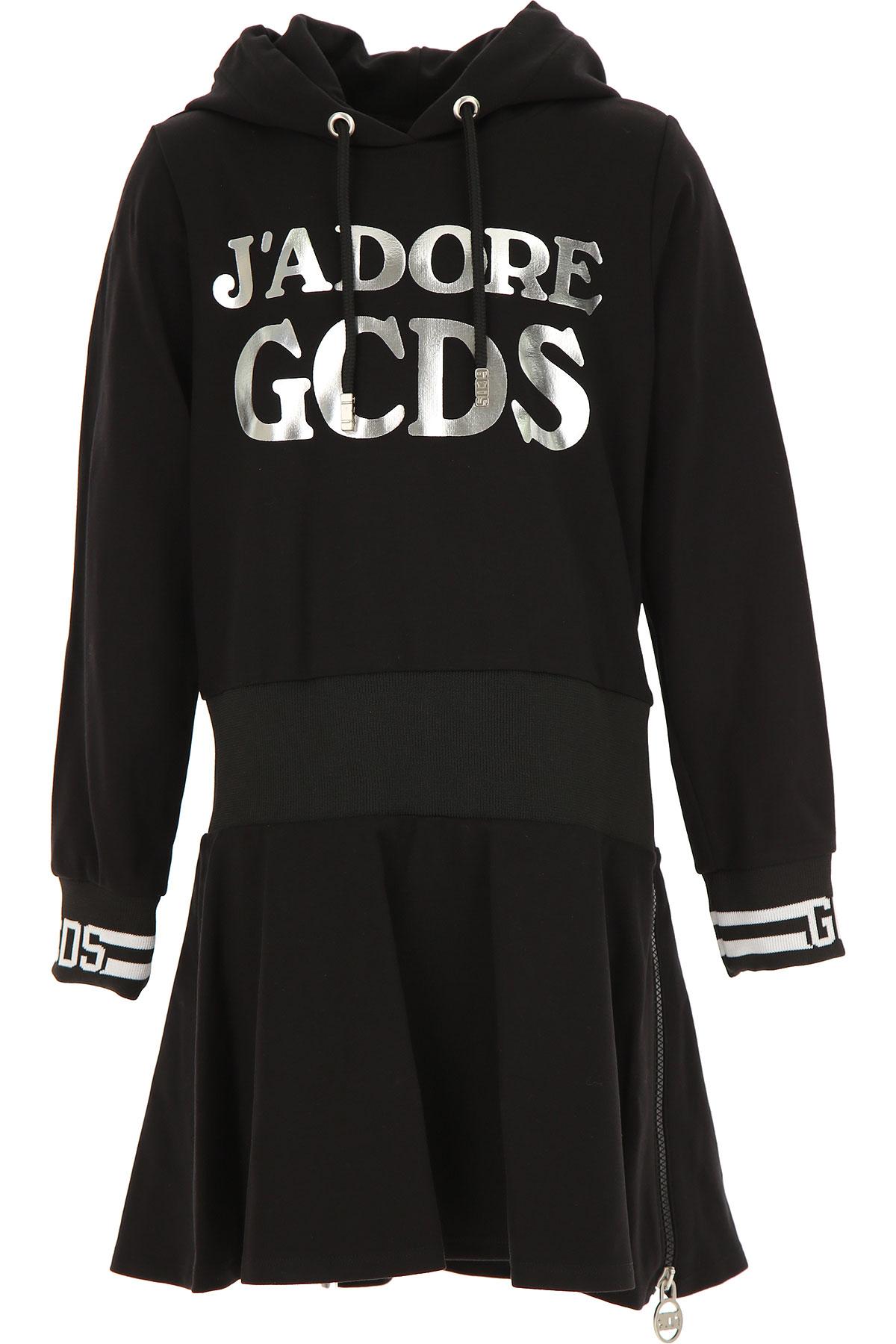 GCDS Girls Dress On Sale, Black, Viscose, 2019, 10Y 12Y 4Y 6Y 8Y