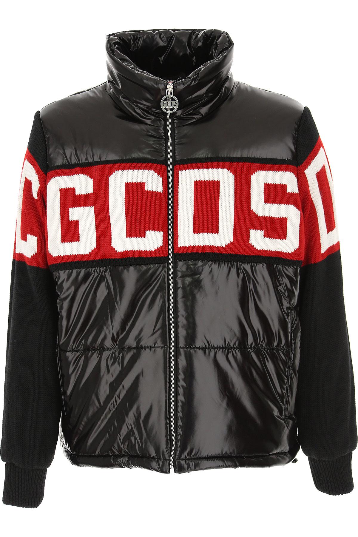 GCDS Jacket for Men On Sale, Black, polyamide, 2019, L M