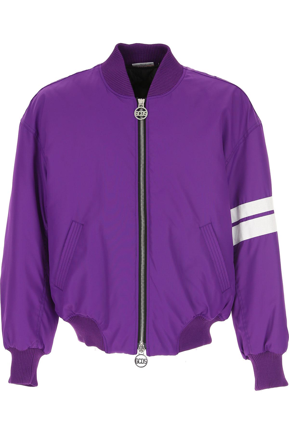 GCDS Down Jacket for Men, Puffer Ski Jacket On Sale, Violet, polyamide, 2019, L M XL