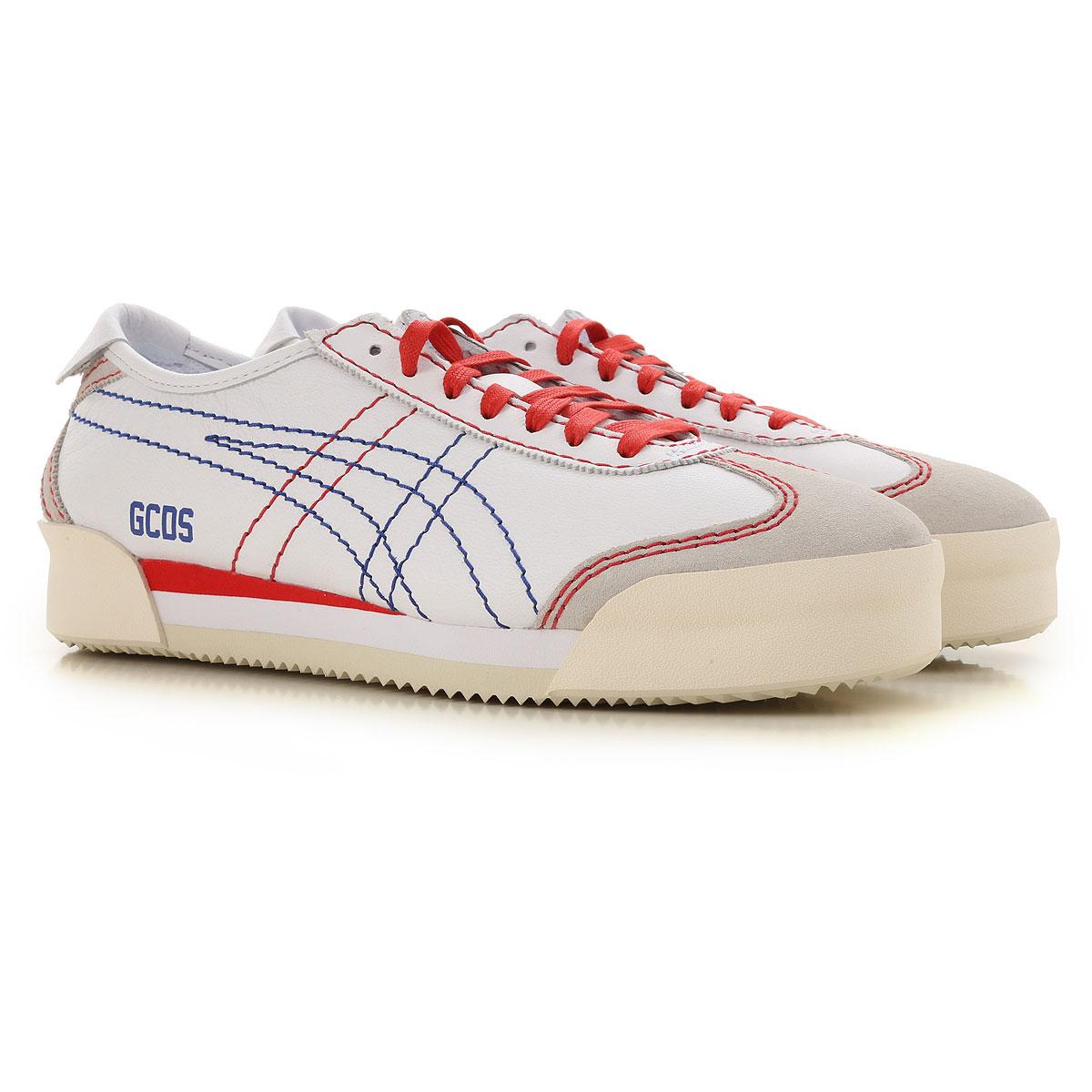 GCDS Sneaker Homme, Onitsuka Tiger, Blanc, Cuir, 2019, 38 40 41 42 43.5 44 45