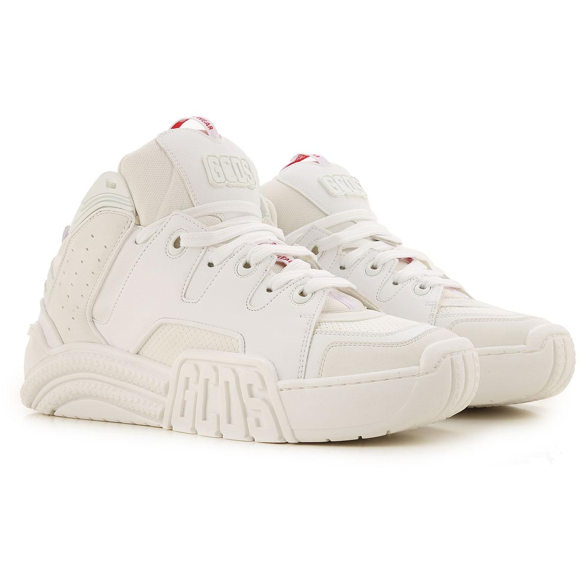 GCDS Sneaker Homme, Blanc, Textile, 2019, 39.5 40 40.5 41 41.5 42 42.5 43 43.5 44
