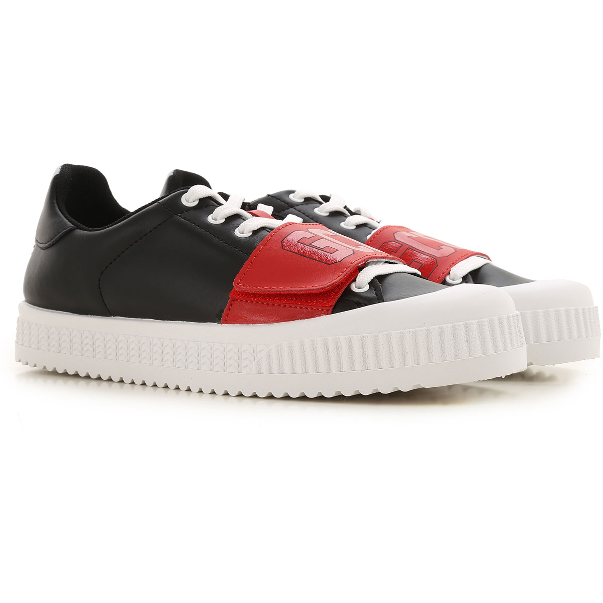 GCDS Sneaker Homme, Noir, Cuir, 2019, 39.5 40 40.5 41 41.5 42 42.5 43 43.5 44 45