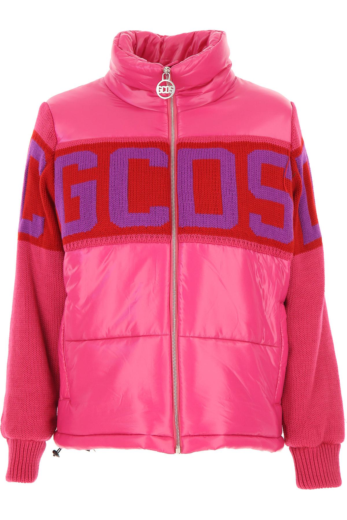 GCDS Down Jacket for Women, Puffer Ski Jacket On Sale, Pink, polyamide, 2019, 2 4 6