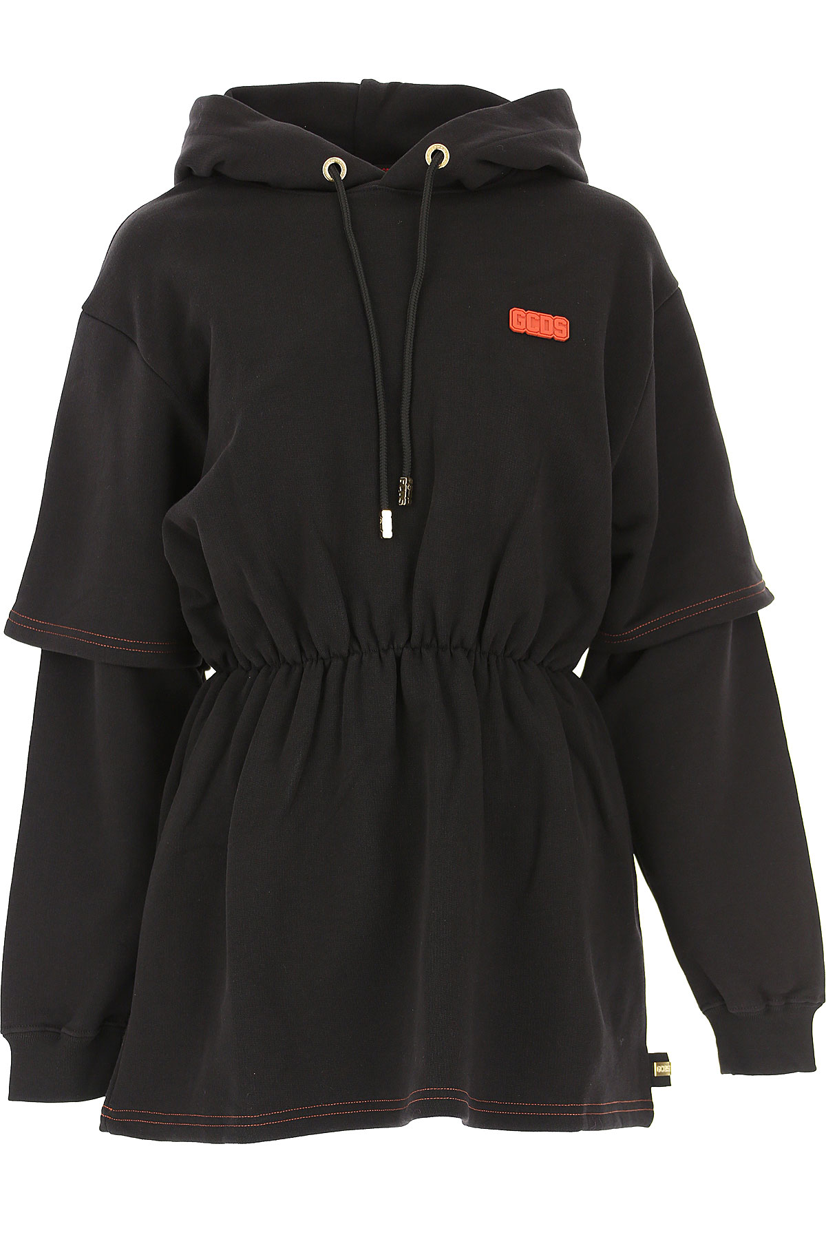 GCDS Dress for Women, Evening Cocktail Party On Sale, Black, Cotton, 2019, 4 6 8