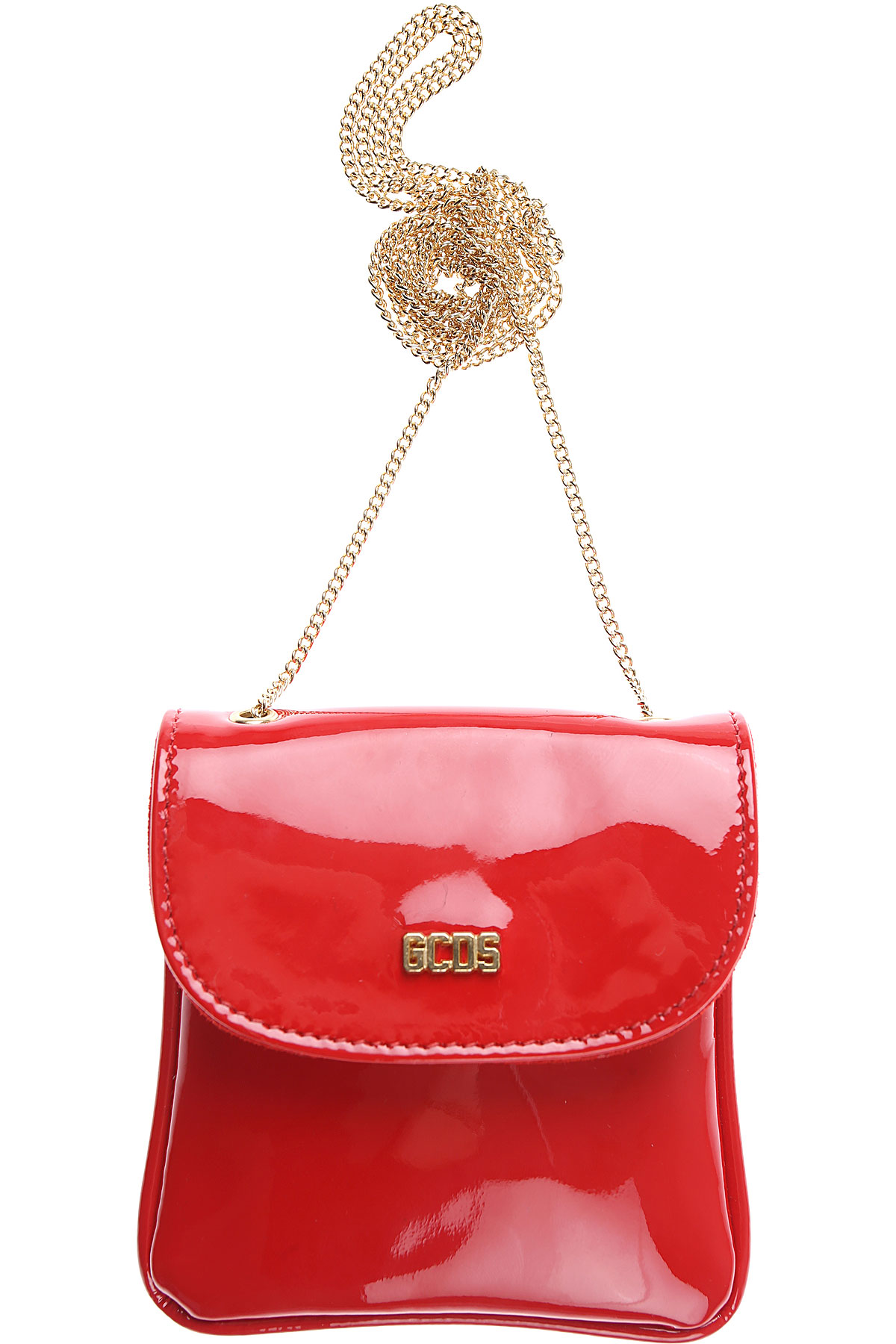 GCDS Card Holder for Women On Sale, Red, Patent Leather, 2019