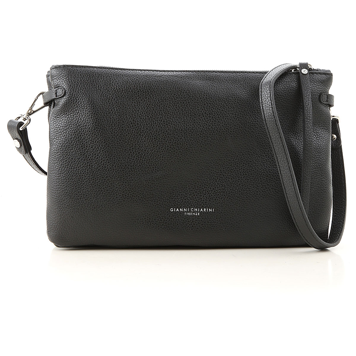 Gianni Chiarini Shoulder Bag for Women On Sale, Black, Leather, 2019