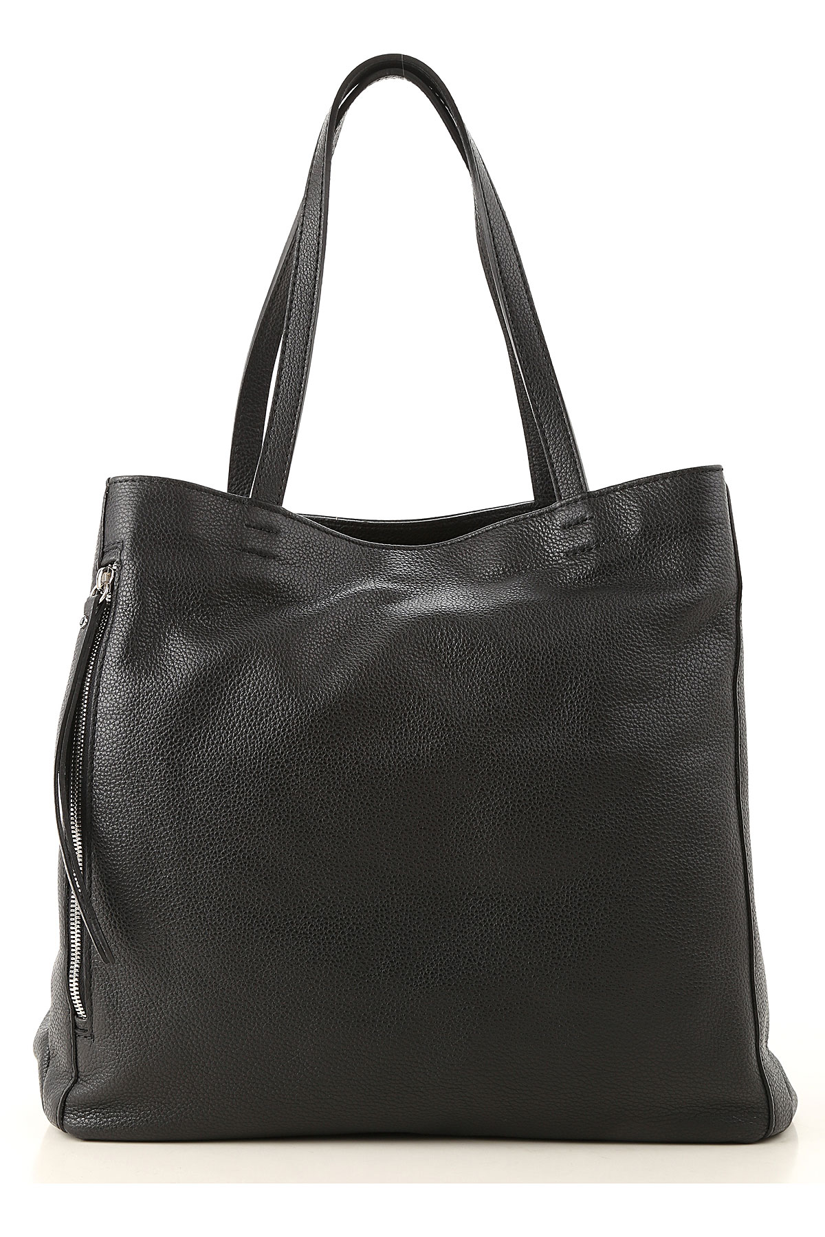 Image of Gianni Chiarini Tote Bag, Black, Leather, 2017