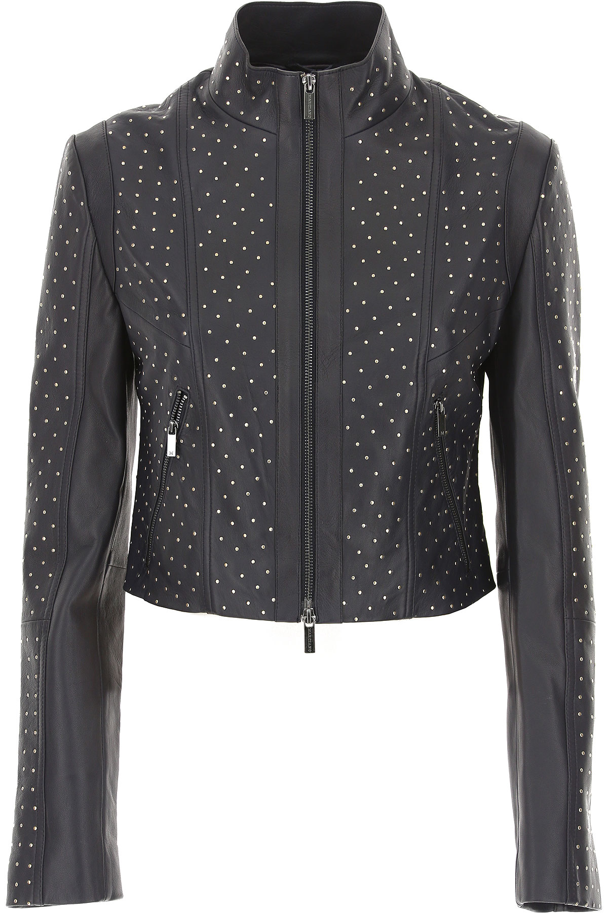 Image of Guess Leather Jacket for Women, Black, Leather, 2017, 4 6 8