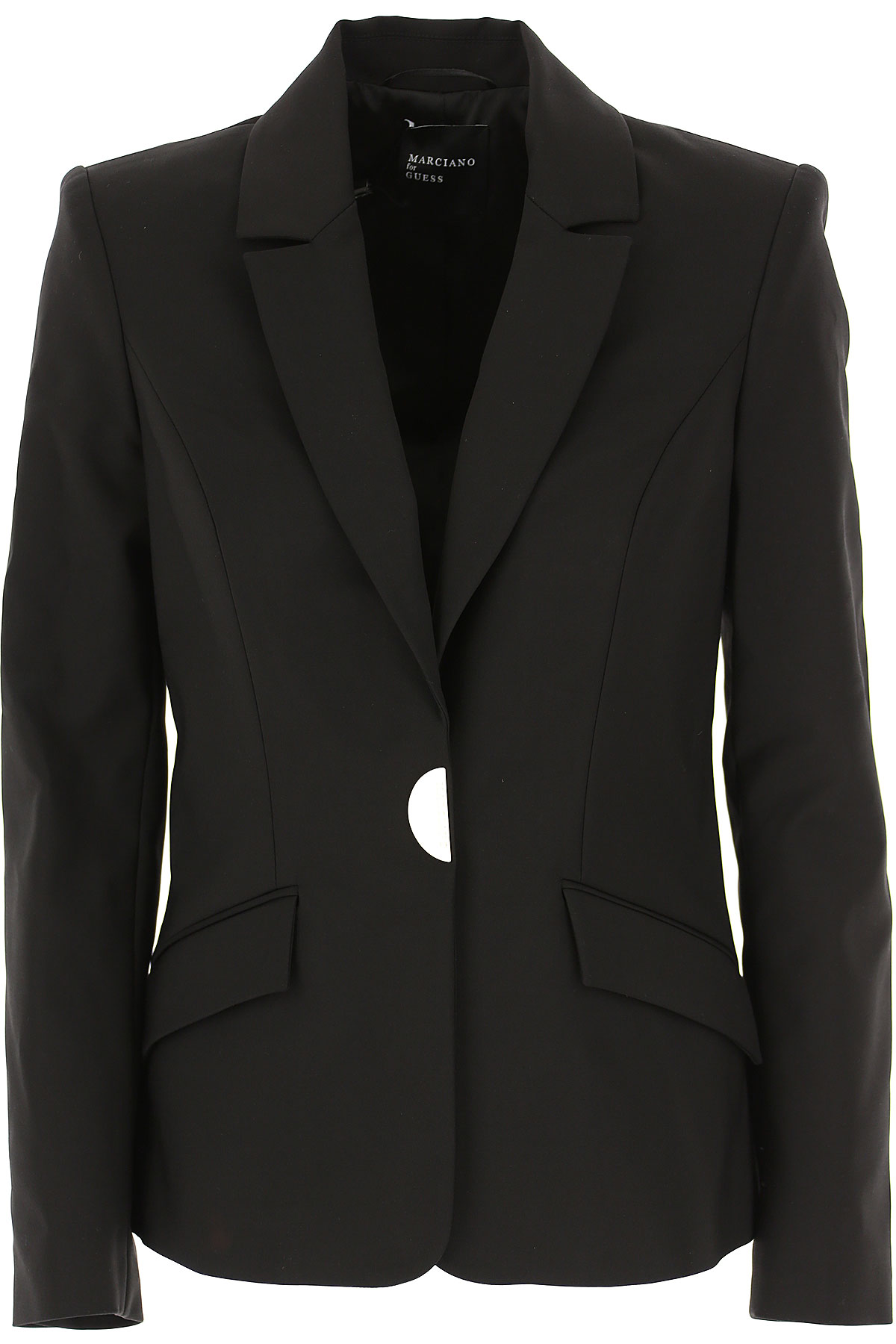 Guess Blazer for Women On Sale, Black, Cotton, 2019, 6 8