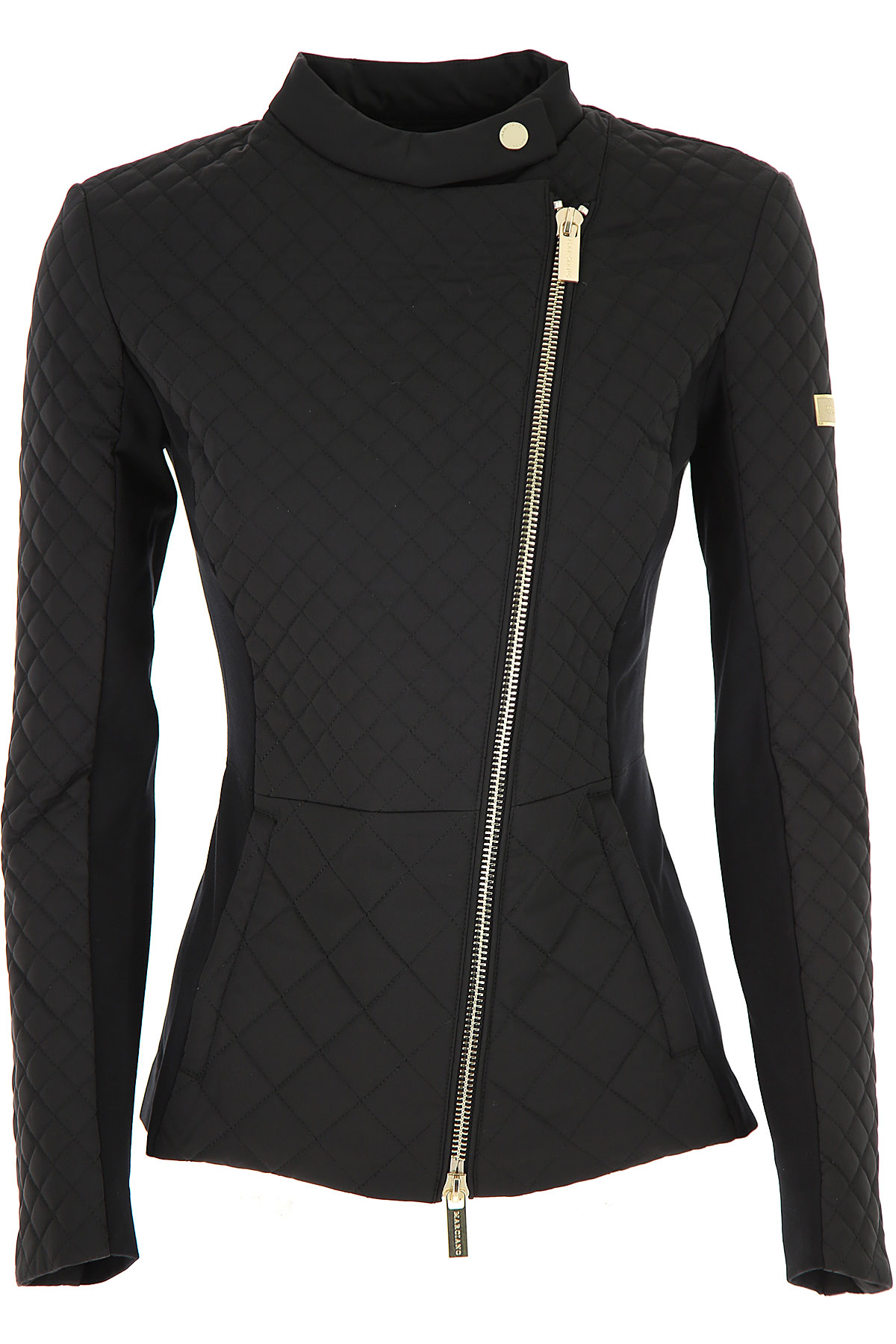 Guess Jacket for Women On Sale, Black, polyester, 2019, 6 8