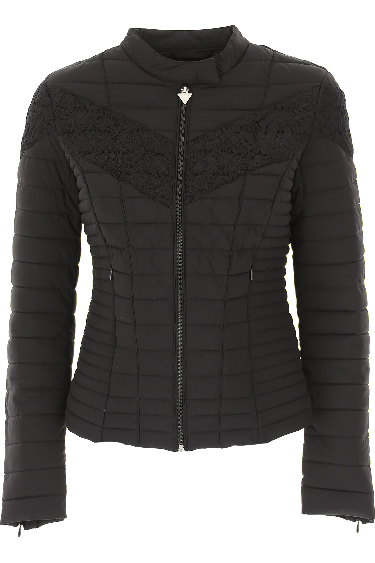 Guess Jacket for Women On Sale, Black, polyester, 2019, 2 6 8