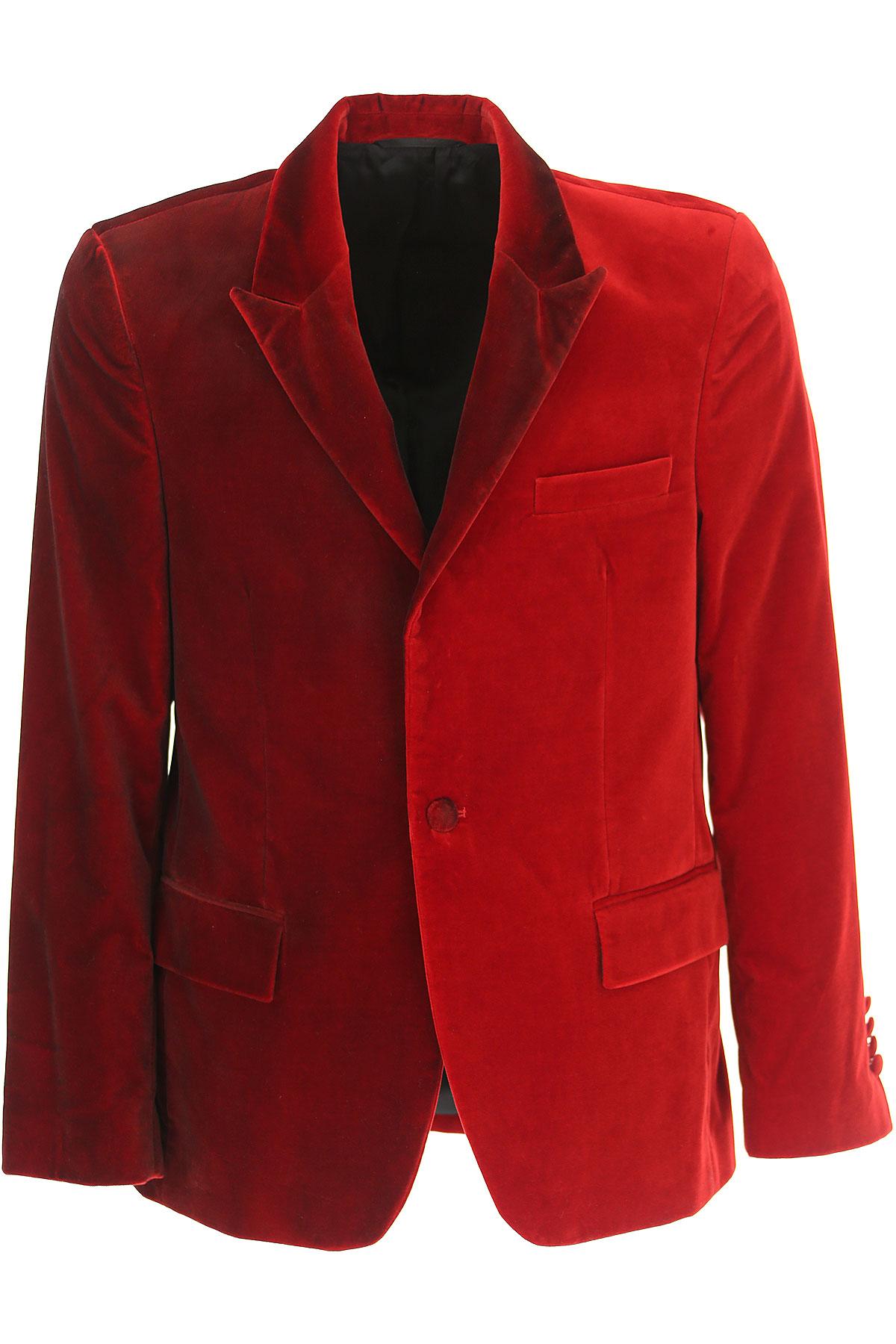 Image of Golden Goose Blazer for Men, Sport Coat, Bordeaux Red, Cotton, 2017, L M