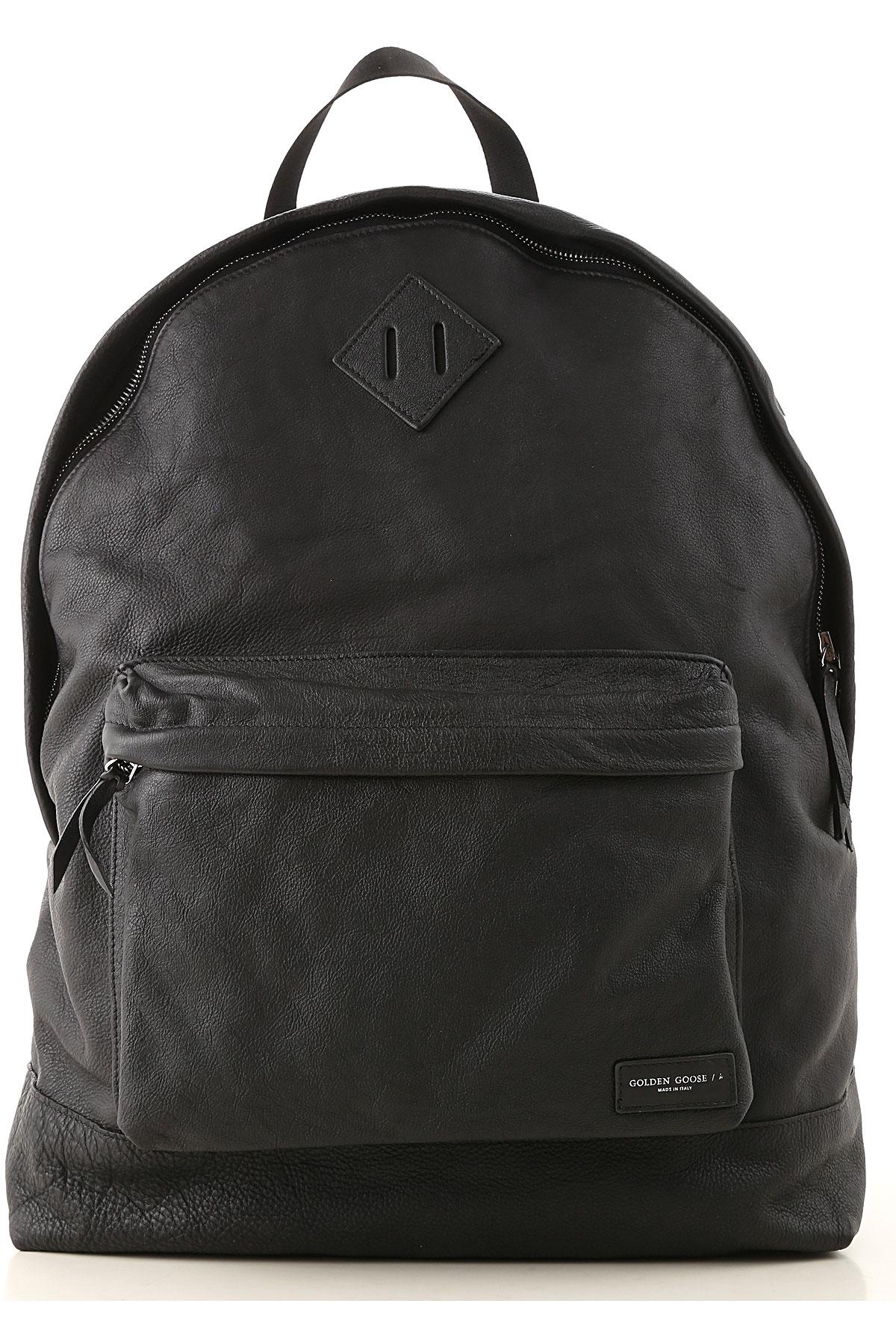 Golden Goose Backpack for Men On Sale, Black, Leather, 2019