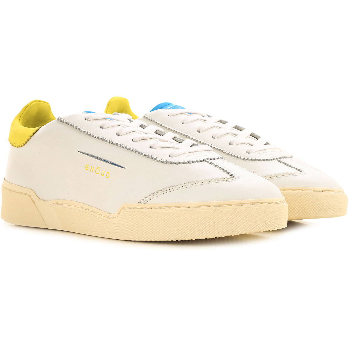 Ghoud Sneakers for Women On Sale, White, Leather, 2019, 10 6 7 8