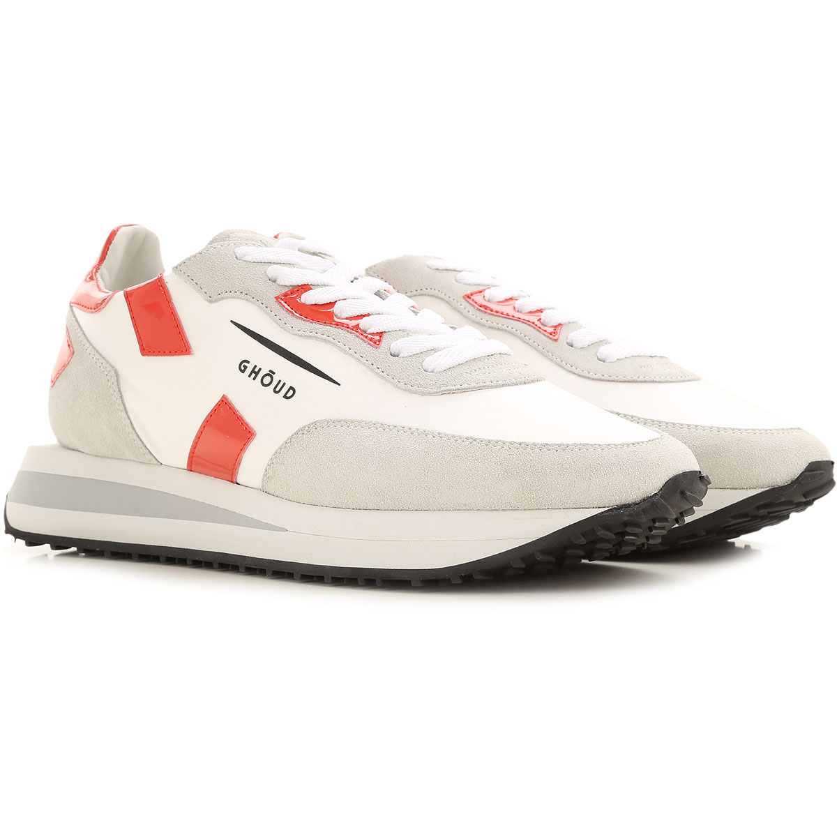 Ghoud Sneakers for Women On Sale, White, Leather, 2019, 10 6 7 8 9