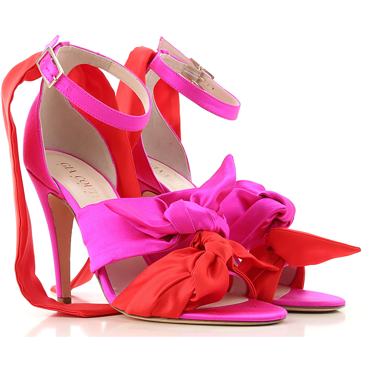 Gia Couture Womens Shoes On Sale in Outlet, Fuchsia, satin, 2019, 6 8 9
