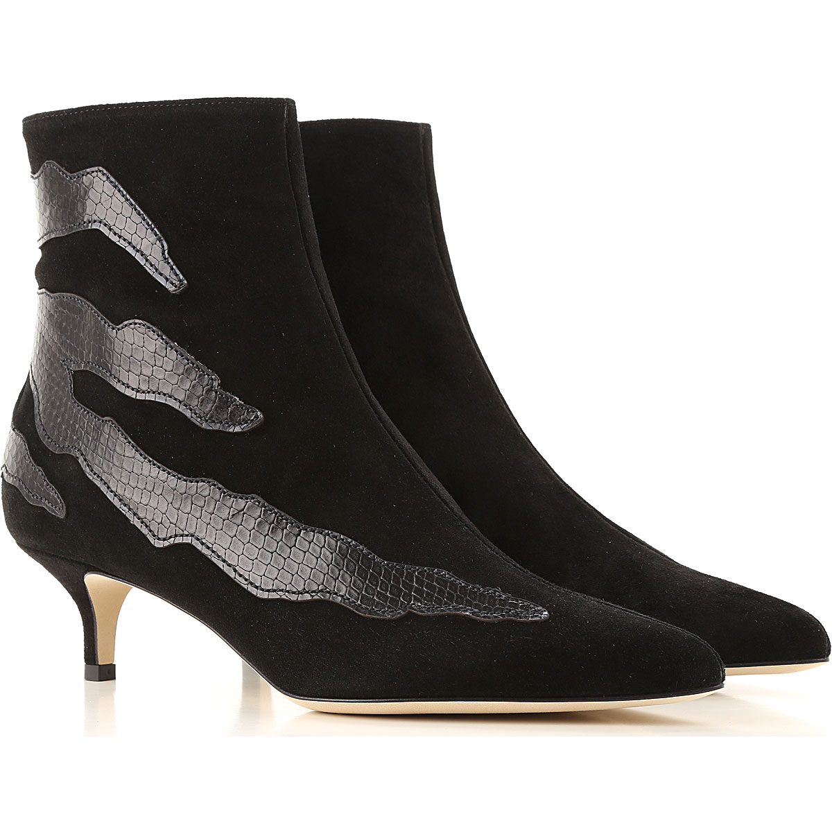 Gia Couture Boots for Women, Booties On Sale, Black, Suede leather, 2019, 10 6 7 8