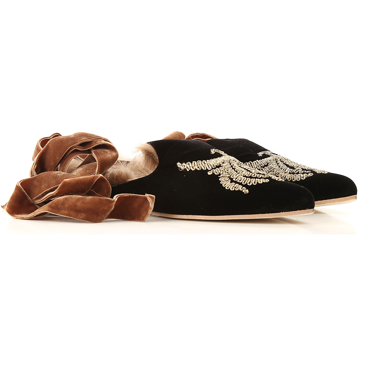 Image of Gia Couture Sandals for Women, Black, Velvet, 2017, 10 5 6 7 8 9