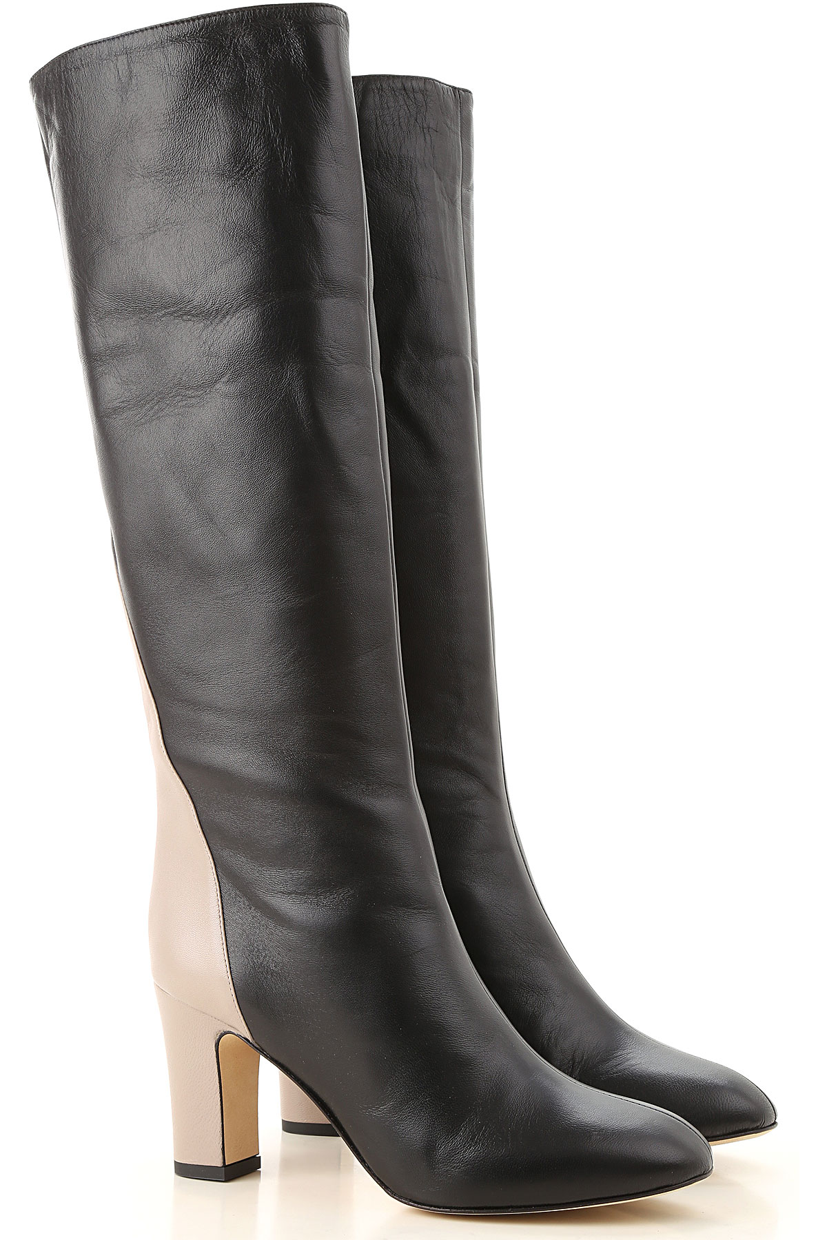 Image of Gia Couture Boots for Women, Booties, Black, Leather, 2017, 10 6 7 8 9