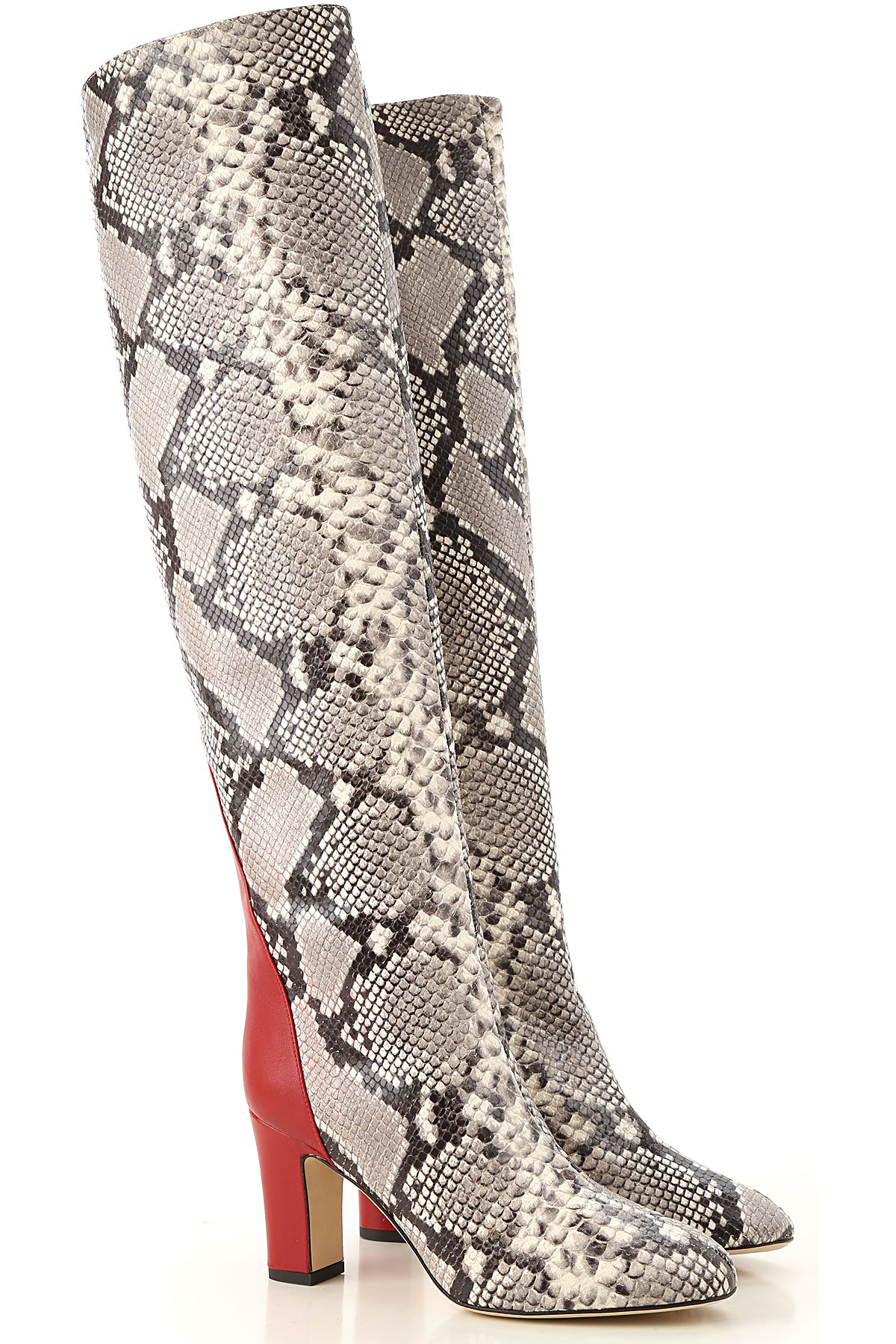 Image of Gia Couture Boots for Women, Booties, Python, Leather, 2017, 10 6 7 8 9