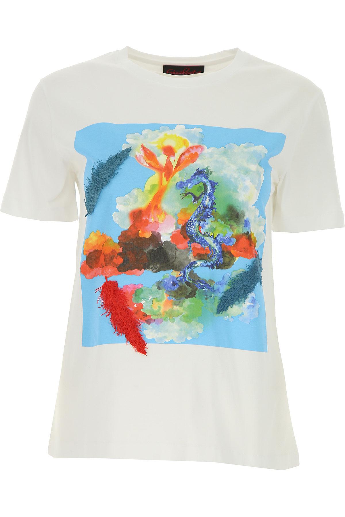 Giulia Rositani T-shirt Femme, Blanc, Coton, 2017, 40 44 M