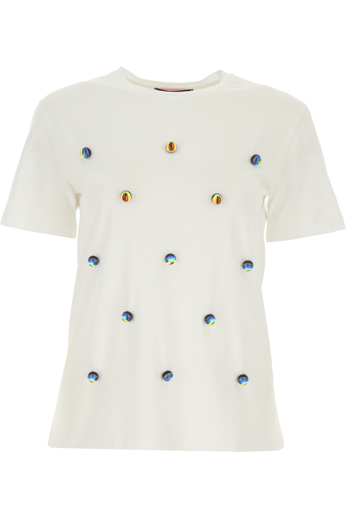 Giulia Rositani T-shirt Femme, Blanc, Coton, 2017, 40 44 46 M