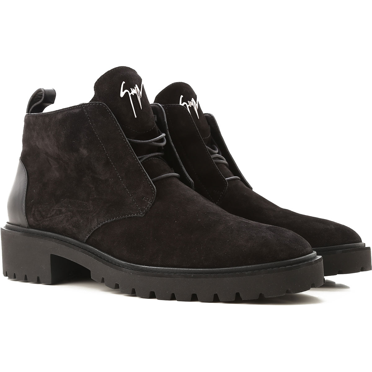 Image of Giuseppe Zanotti Design Boots for Men, Booties, Black, Suede leather, 2017, 10 10.5 7.5 8 9