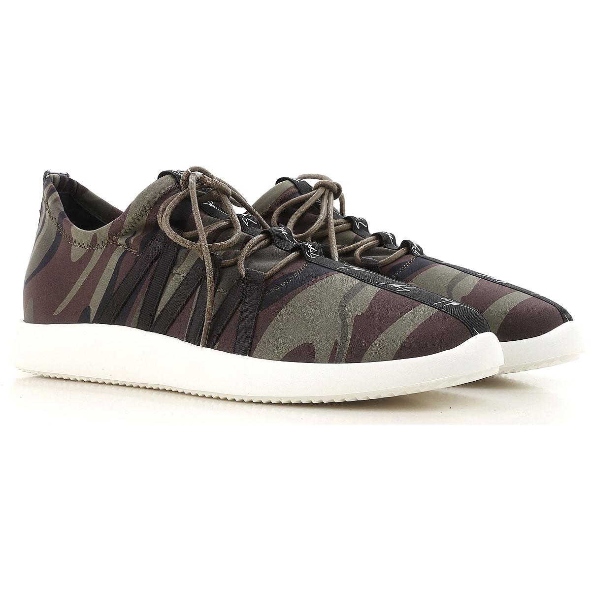 Giuseppe Zanotti Design Sneakers for Men On Sale in Outlet, Camouflage Green, Neoprene, 2019, 7.5 8