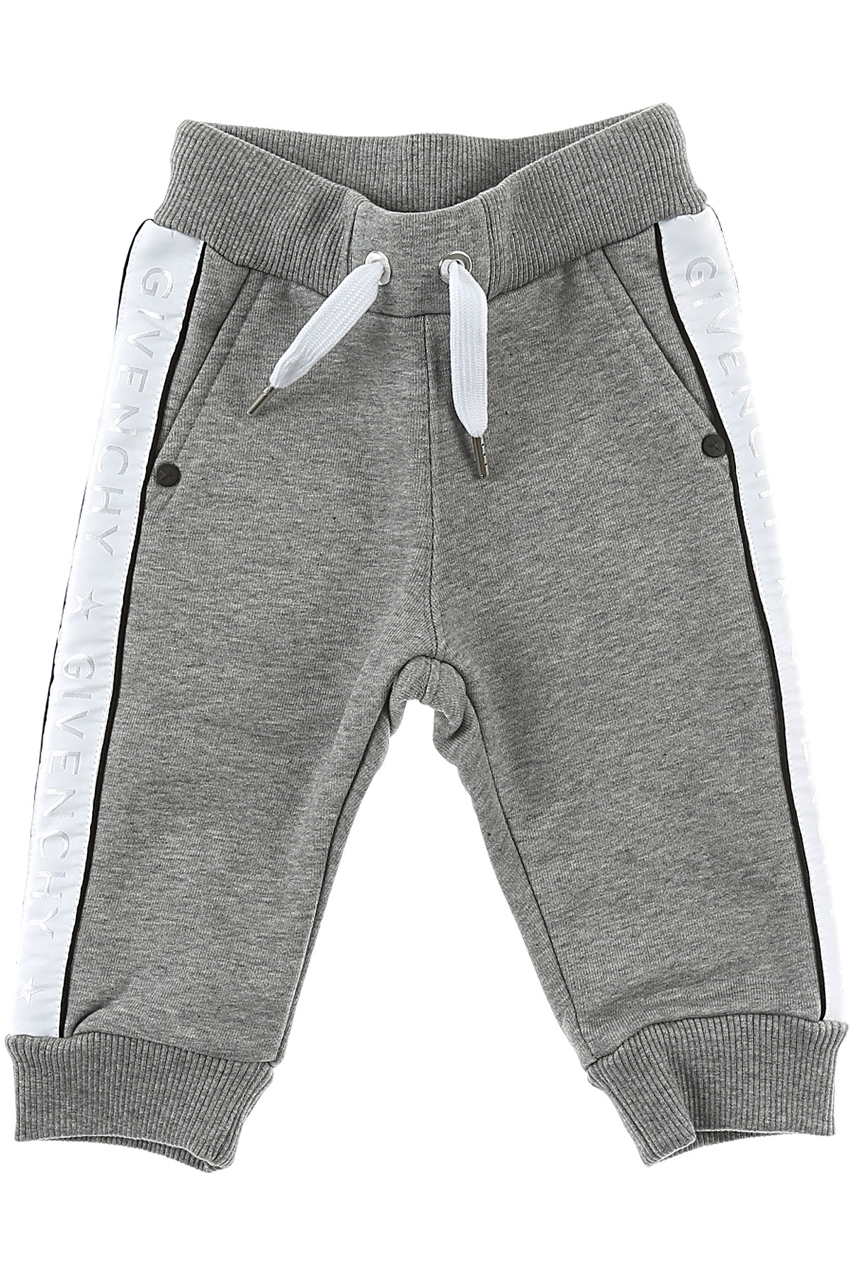 Image of Givenchy Baby Sweatpants for Boys, Grey, Cotton, 2017, 12M 18M 3Y 6M 9M