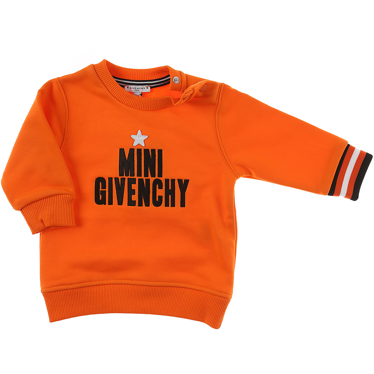 Image of Givenchy Baby Sweatshirts & Hoodies for Boys, Orange, Cotton, 2017, 12M 6M 9M