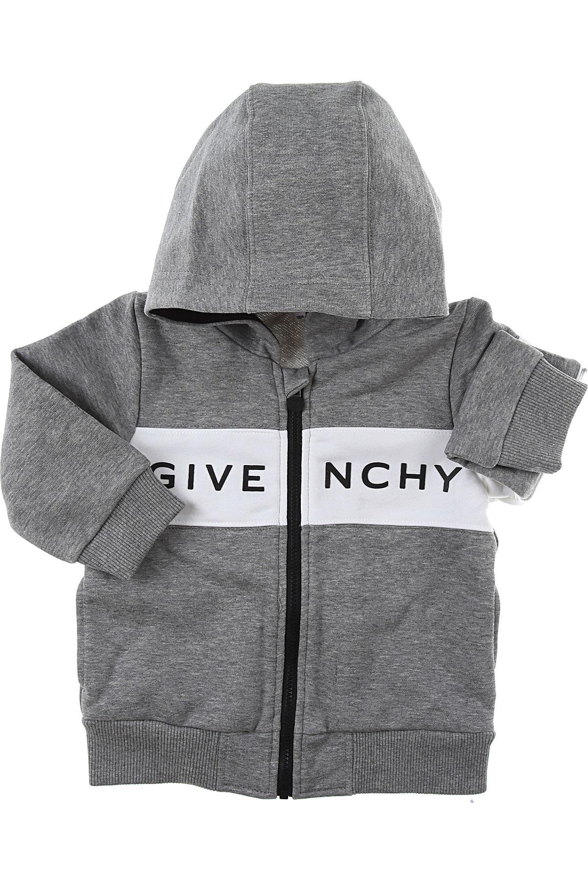 Givenchy Baby Sweatshirts & Hoodies for Boys On Sale, Grey, Cotton, 2019, 12 M 18M 2Y 3Y 9M